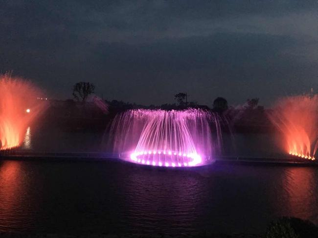 湖北京山县桥河美丽乡村水秀表演项目案例