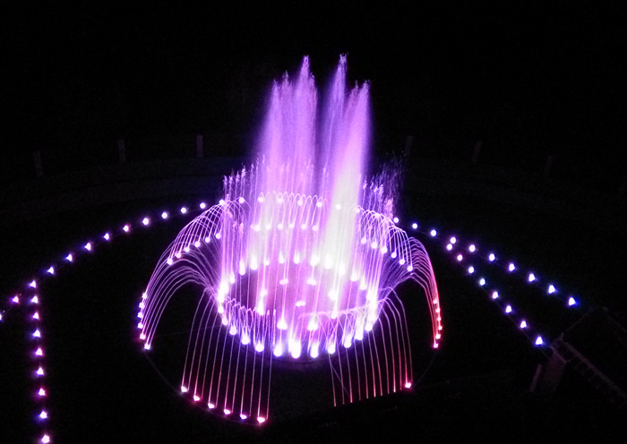 Adding fountain elements to modern garden design reflects the combination of dynamic and static